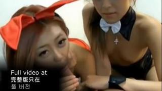 【無】 美少女2人とバニーガールコスプレ#02