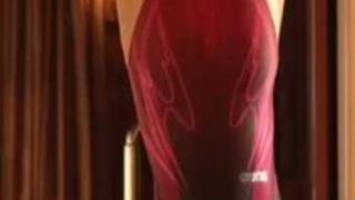 【鈴木さとみ】競泳水着を着てきれいな身体のラインがクッキリ見える美女を両手拘束して電マ責め!【無料エロ動画】