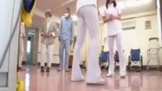 [スケ下着]透けパンツの看護婦のデカ尻でオナニー「お尻ですか?」我慢汁塗れの変態勃起チンポを極上おっぱいで性処理[藤堂ル