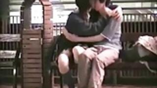 公共公園のセックスカップルクソ